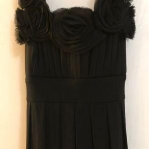 ROULETTE Black Chic Bubble Hem Ruffle DRESS Sz M
